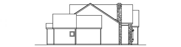 Brelsford - 30-202 - European Home Plan - Left Elevation