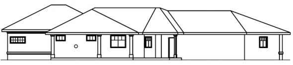 Chatsworth - 30-227 - Mediterranean Home Plan - Rear Elevation