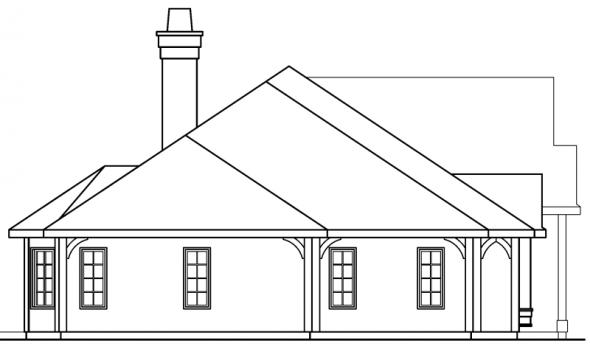 Macon - 30-229 - European Home Plan - Left Elevation
