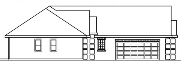 Willcox - 30-232 - Traditional Home Plan - Left Elevation