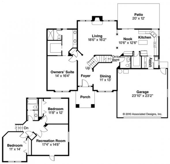 Coleridge - 30-251 - Traditional Home Plan - Floor Plan
