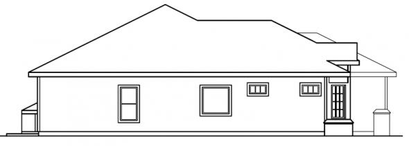 Arvada - 30-261 - Ranch Home Plan - Left Elevation