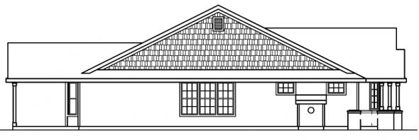 Ashley - 30-264 - Country Home Plan - Left Elevation