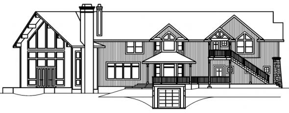Bentonville - 30-275 - Estate Home Plan - Left Elevation