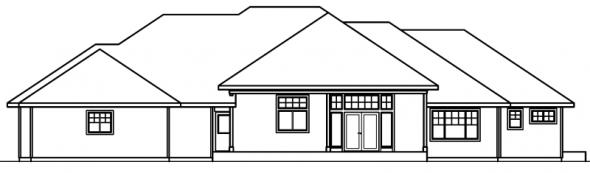 Belvedere - 30-280 - Contemporary Home Plan - Rear Elevation