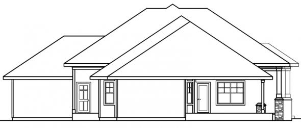 Belvedere - 30-280 - Contemporary Home Plan - Left Elevation