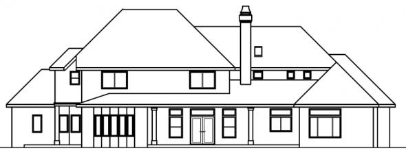 Avalon - 30-306 - Estate Home Plan - Rear Elevation