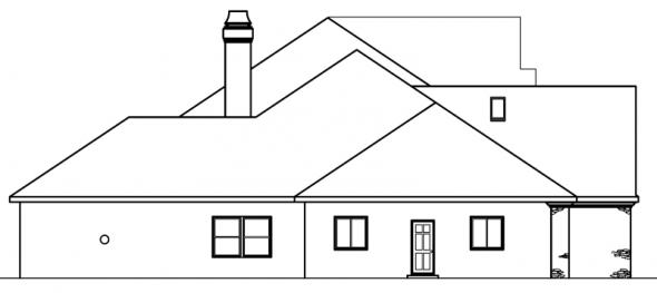 Avalon - 30-306 - Estate Home Plan - Left Elevation