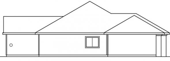 Brittany - 30-317 - Tuscan Home Plan - Left Elevation