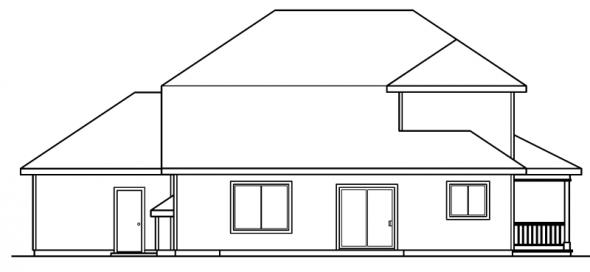 Kaitlyn - 30-338 - Country Home Plan - Rear Elevation