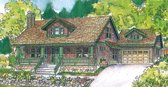 Carrington - 30-360 - Craftsman Home Plan - Front Elevation