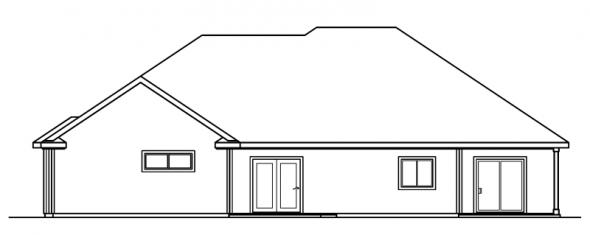 Finley - 30-364 - Traditional Home Plan - Rear Elevation