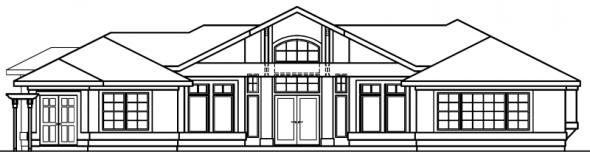 Jacobsen - 30-397 - Mediterranean Home Plan - Rear Elevation