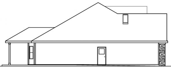 Hargrove - 30-409 - European Home Plan - Left Elevation