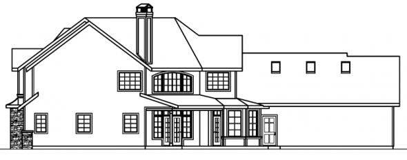Rutherford - 30-411 - Craftsman Home Plan - Rear Elevation