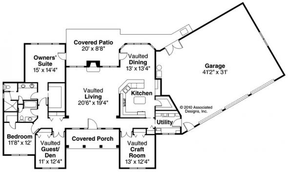 Burnham - 30-481 - Classic Home Plan - Floor Plan
