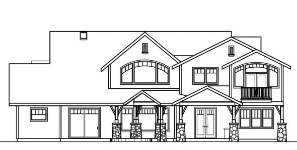 Breckenridge - 30-483 - Estate Home Plan - Rear Elevation