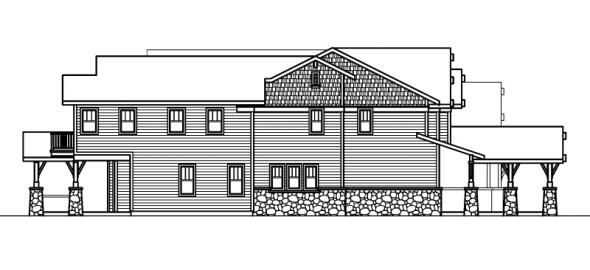 Breckenridge - 30-483 - Estate Home Plan - Left Elevation