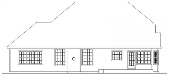 Fitzgerald - 30-492 - Chateau Home Plan - Rear Elevation