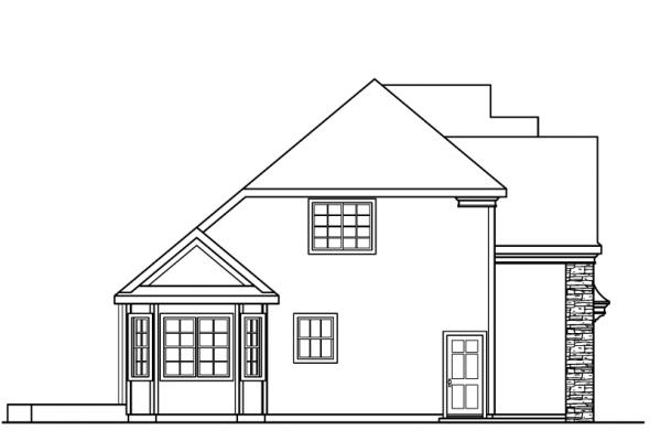Fitzgerald - 30-492 - Chateau Home Plan - Left Elevation