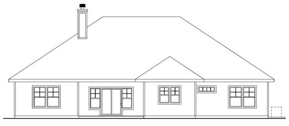 Whitingham - 30-501 - Craftsman Home Plan - Rear Elevation