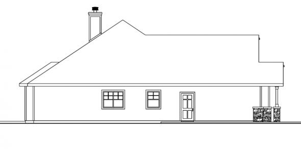 Whitingham - 30-501 - Craftsman Home Plan - Left Elevation
