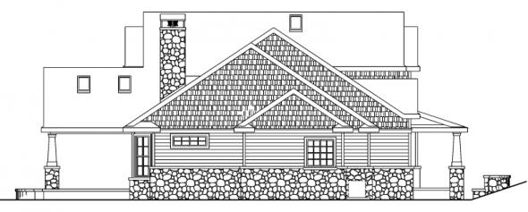 Tillamook - 30-519 - Craftsman Home Plan - Left Elevation