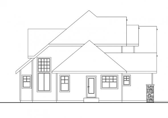 Scarborough - 30-530 - Craftsman Home Plan - Left Elevation