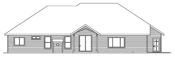 Spencer - 30-537 - Traditional Home Plan - Rear Elevation