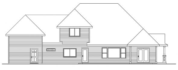 Claredon - 30-564 - Traditional Home Plan - Rear Elevation