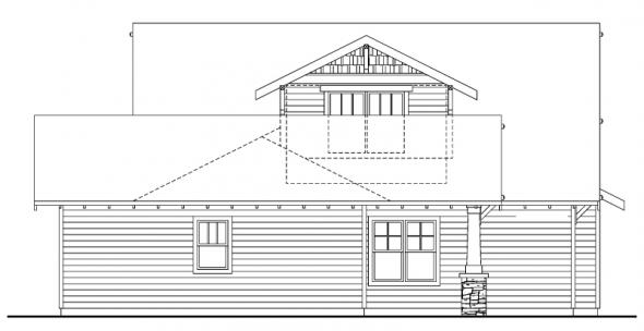 Fairfield - 30-583 - Craftsman Home Plan - Rear Elevation