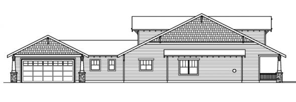 Fairfield - 30-583 - Craftsman Home Plan - Left Elevation