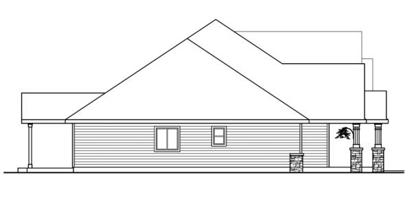 Allison - 30-608 - Country Home Plan - Left Elevation