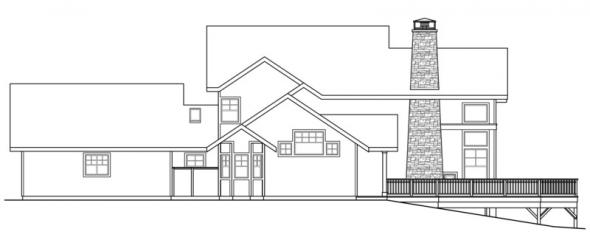 Stratford - 30-615 - Craftsman Home Plan - Rear Elevation