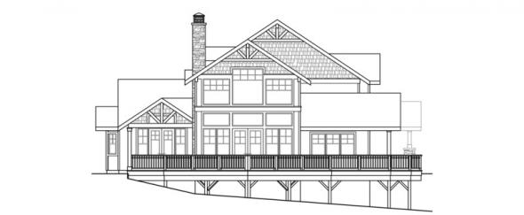 Stratford - 30-615 - Craftsman Home Plan - Left Elevation