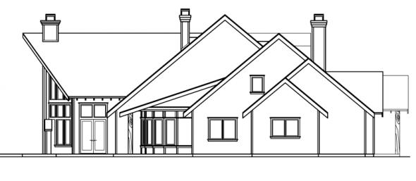 Coeur D'Alene - 30-634 - Estate Home Plan - Left Elevation