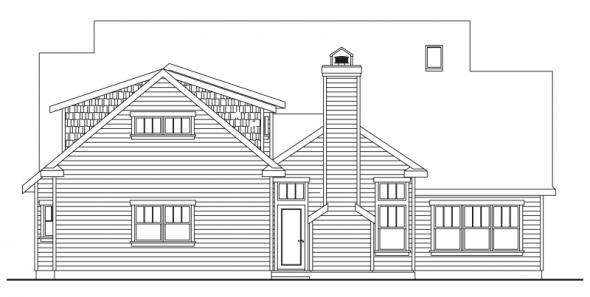 Coburg - 30-637 - Country Home Plan - Rear Elevation