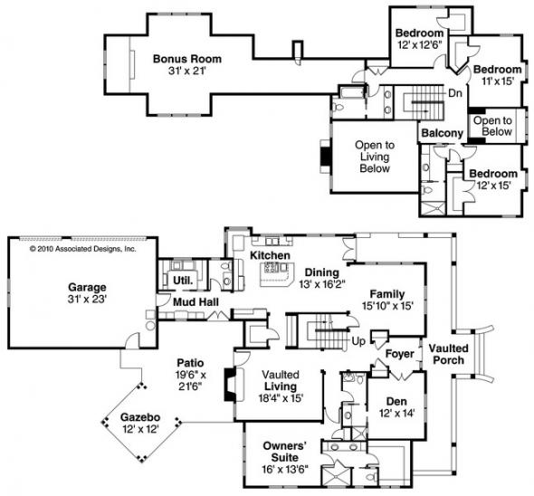 Coburg - 30-637 - Country Home Plan - Floor Plan