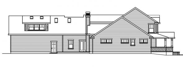 Coburg - 30-637 - Country Home Plan - Left Elevation