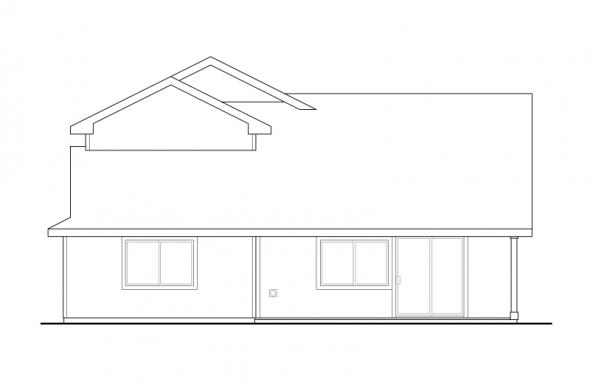 Bigsby - 30-642 - Craftsman Home Plan - Rear Elevation