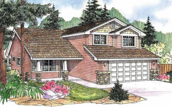 Bigsby - 30-642 - Craftsman Home Plan - Front Elevation
