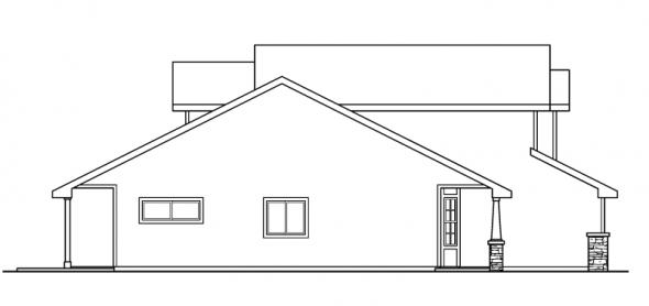 Bigsby - 30-642 - Craftsman Home Plan - Left Elevation