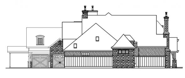 Chesterson - 30-649 - Estate Home Plan - Left Elevation