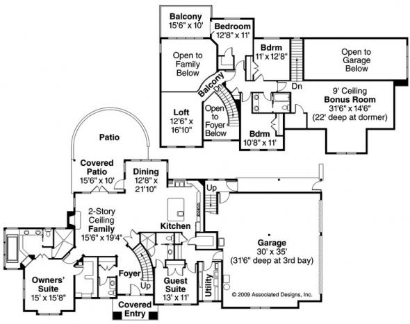 Charlottesville - 30-650 - European Home Plan - Floor Plan