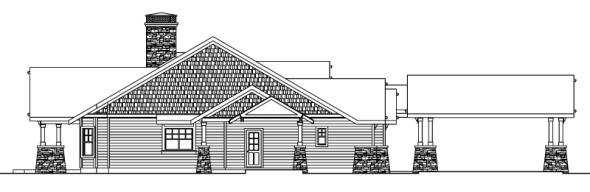 Arborgate - 30-654 - Craftsman Home Plan - Left Elevation