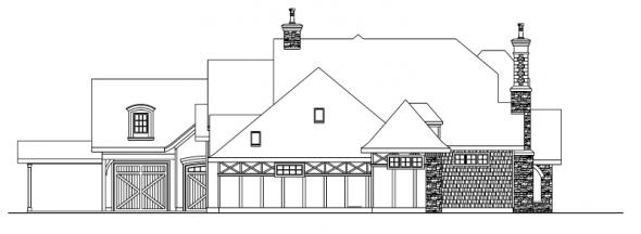 Picardie Villa - 30-676 - Estate Home Plan - Left Elevation