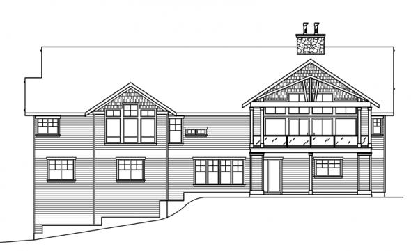 Pacifica - 30-683 - Estate Home Plan - Rear Elevation