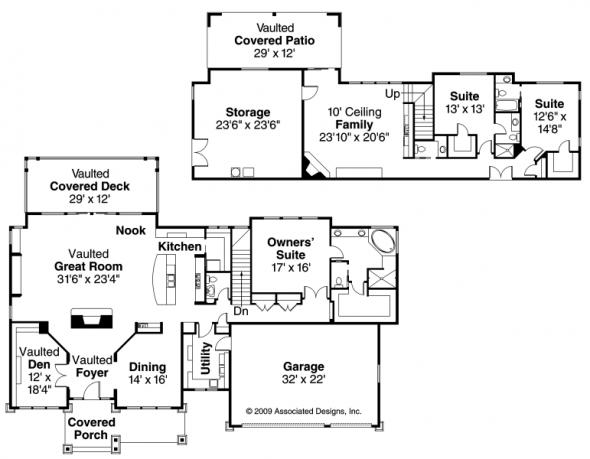 Pacifica - 30-683 - Estate Home Plan - Floor Plan