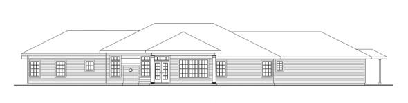 Parkdale - 30-684 - Ranch Home Plan - Rear Elevation