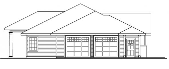 Parkdale - 30-684 - Ranch Home Plan - Left Elevation